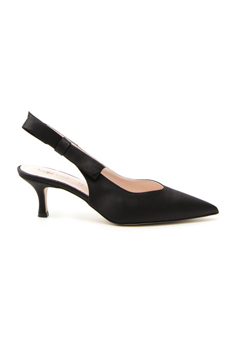 Décolleté slingback in raso Intrend