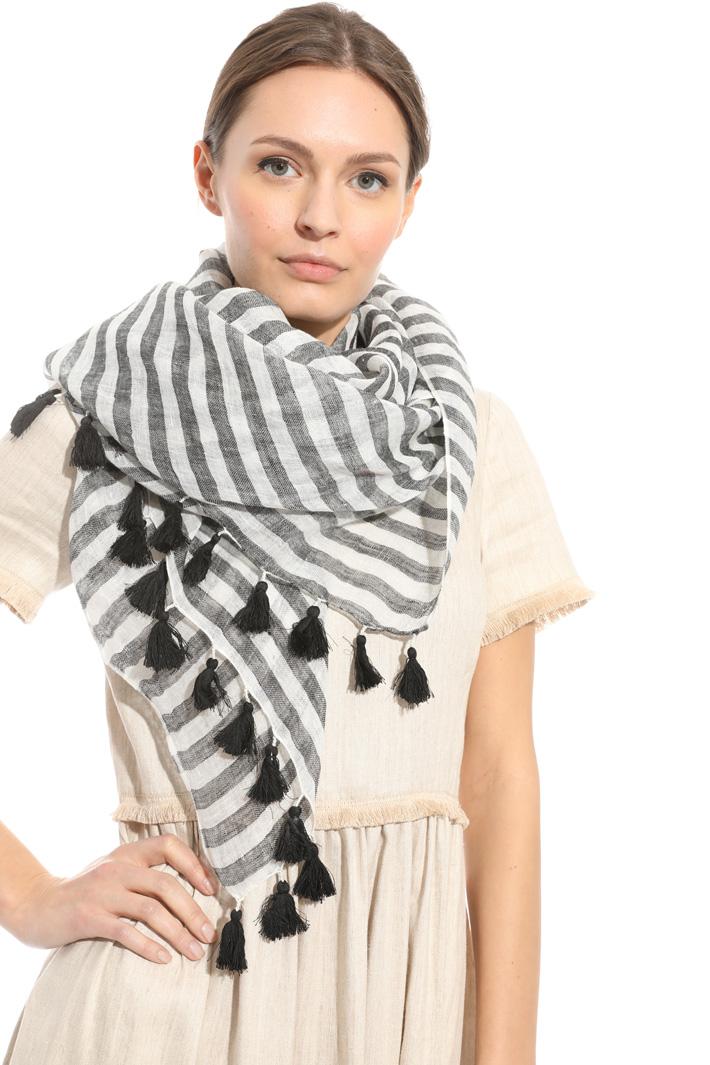 Tassel linen scarf Intrend