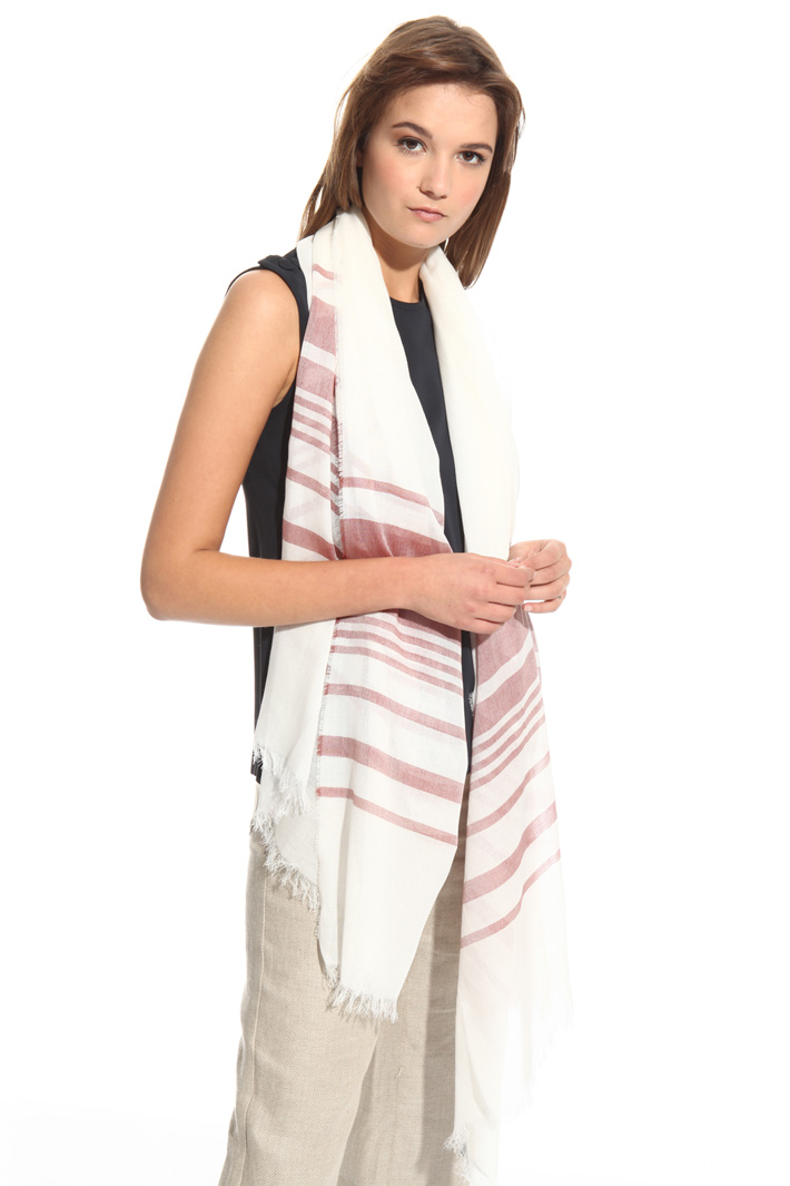 Yarn-dyed scarf in cotton Intrend