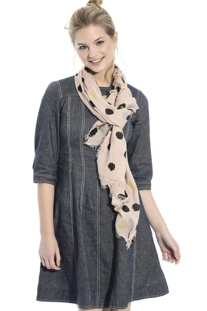 Lurex polka-dot scarf Intrend