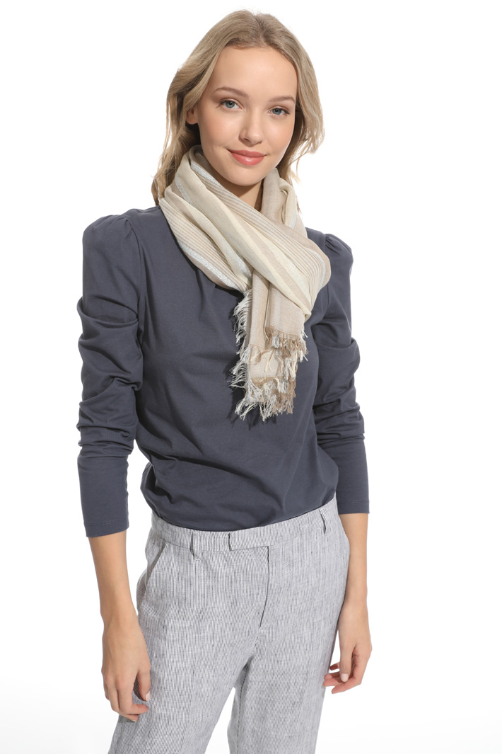 Light striped scarf Intrend