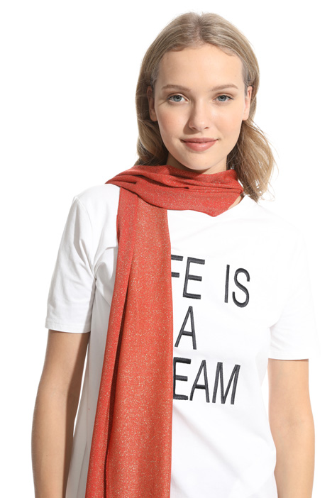 Viscose and lurex scarf Intrend