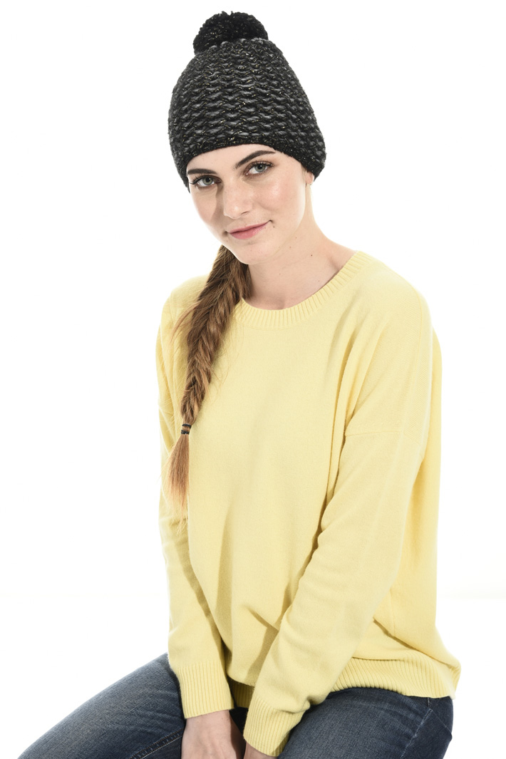 Lurex wool beanie hat Intrend