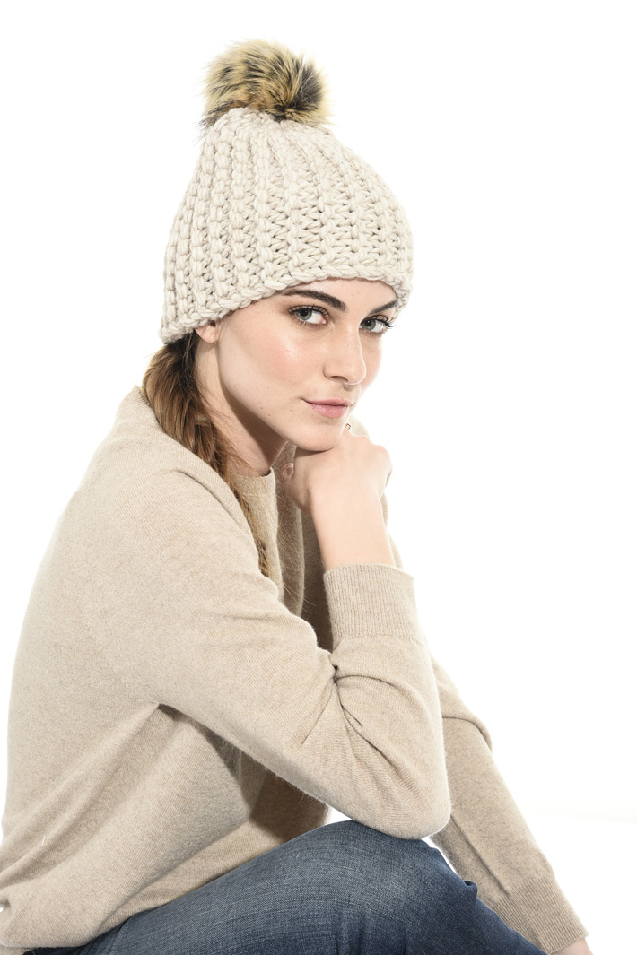 Wool and alpaca beanie hat Intrend