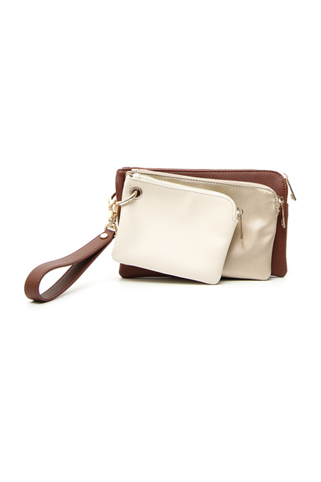 Triple leather pochette Intrend