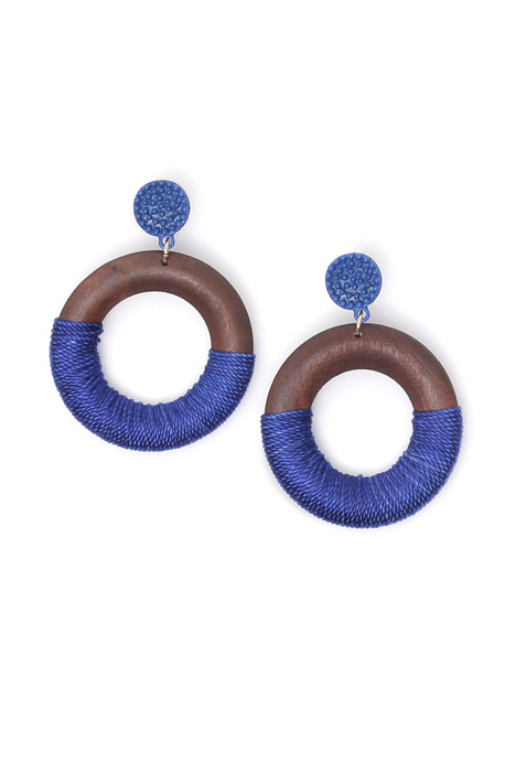 Wood disc earrings Intrend