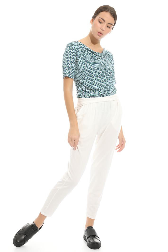 Pantalone con cintone elastico Intrend