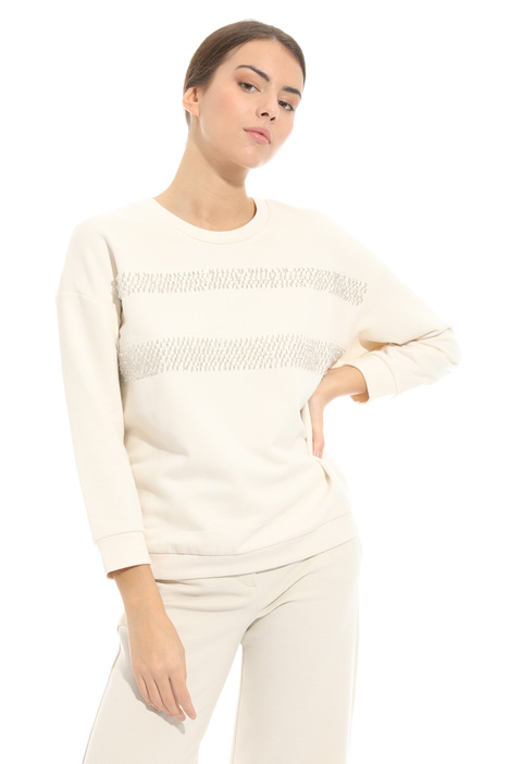 Embroidered jersey sweatshirt Intrend
