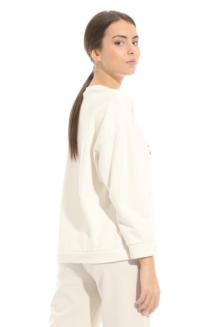 Embroidered jersey sweatshirt Intrend