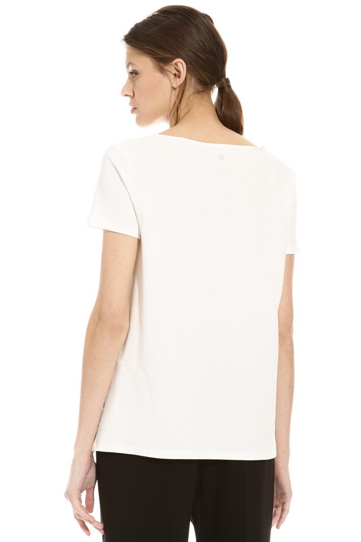 T-shirt in seta e cotone Intrend