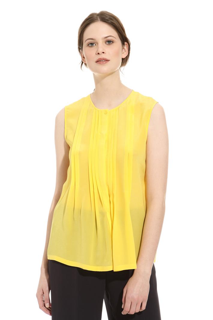 Mix fabric shirt Intrend