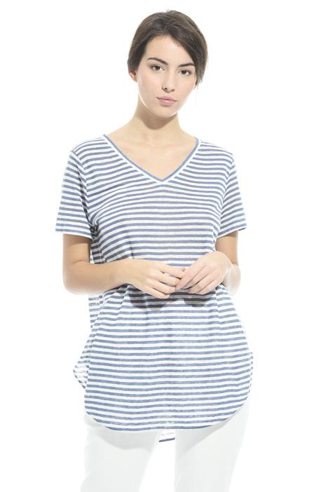T-shirt in jersey di lino Intrend