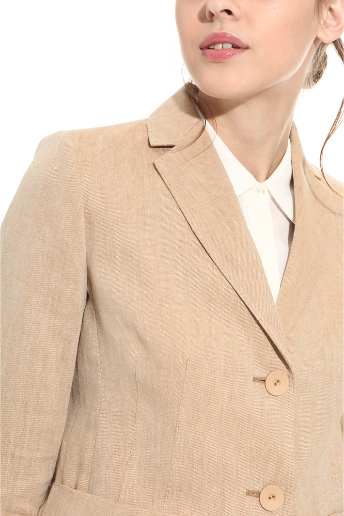 Linen and ramié blazer  Intrend