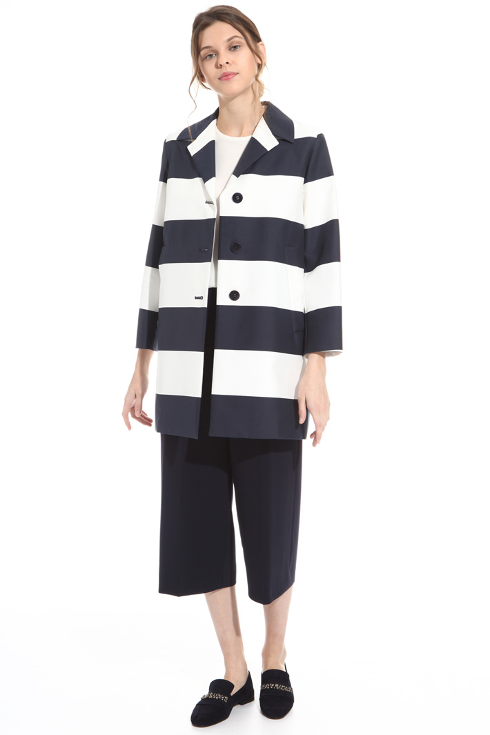 Printed cotton topcoat Intrend