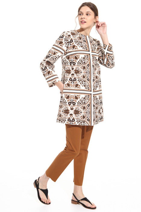 Printed cotton overcoat  Intrend