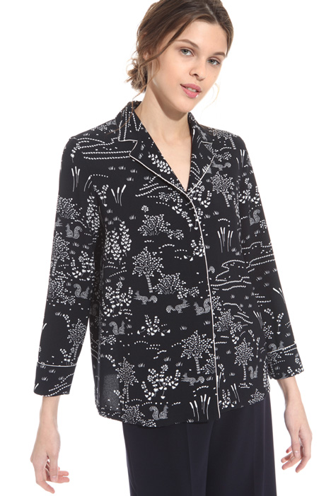 Printed sablé shirt Intrend