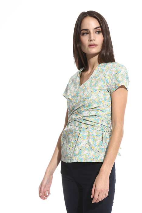 Wrap-up top in cotton Intrend
