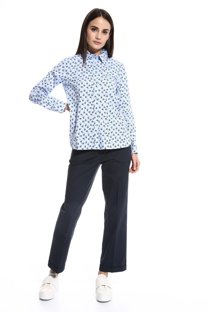Stretch poplin shirt Intrend