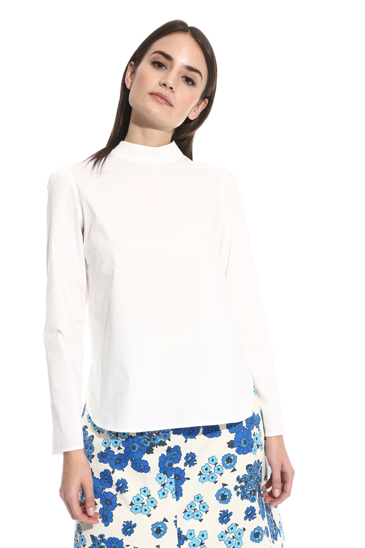 Blusa in popeline e jersey Intrend