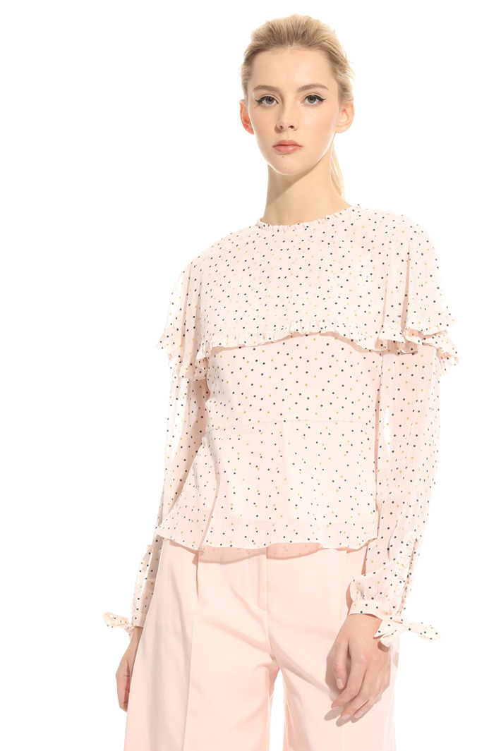 Flock-print blouse Intrend