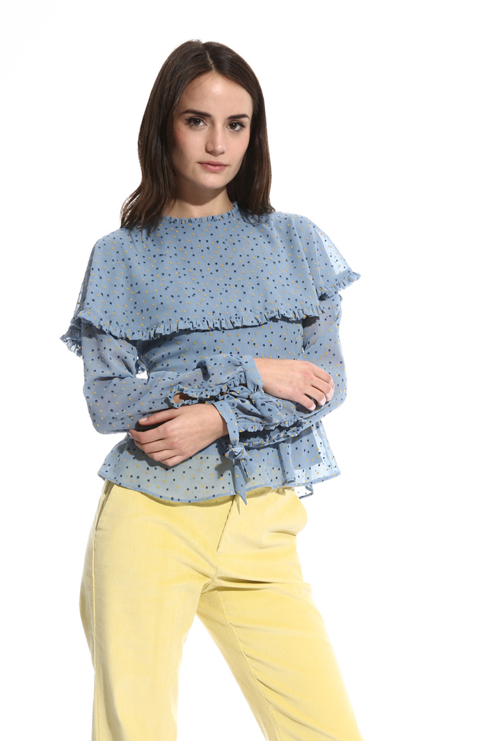 Blusa con stampa flock Intrend