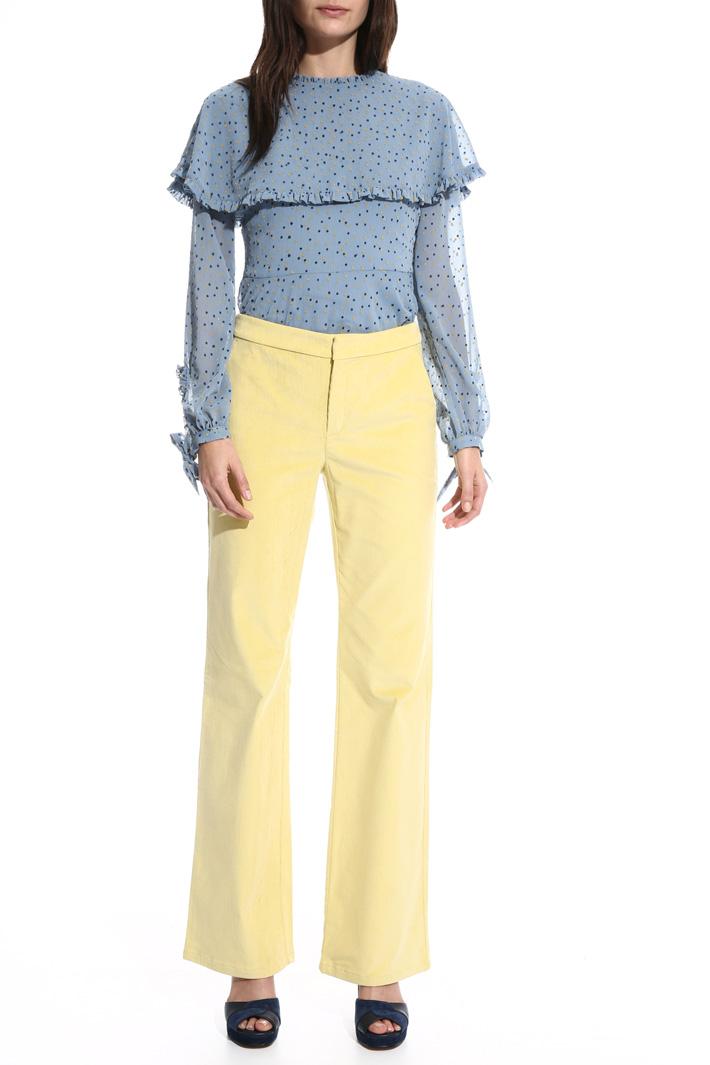 Long velvet trousers Intrend