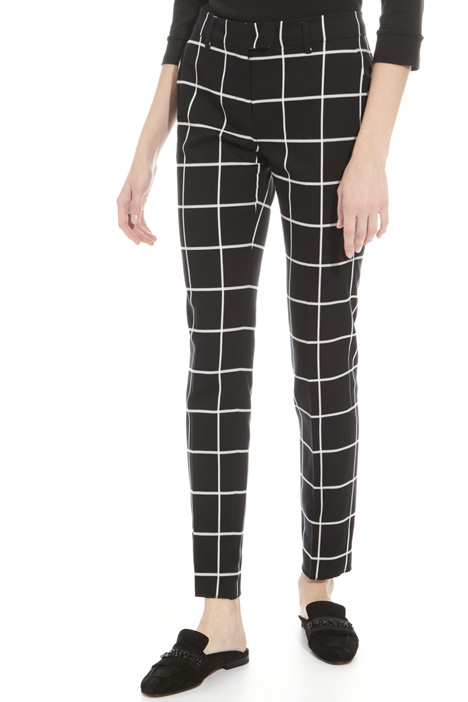Printed cigarette trousers Intrend