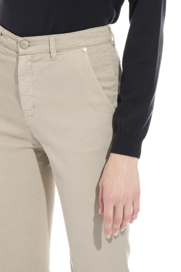 Pantalone flare in drill Intrend