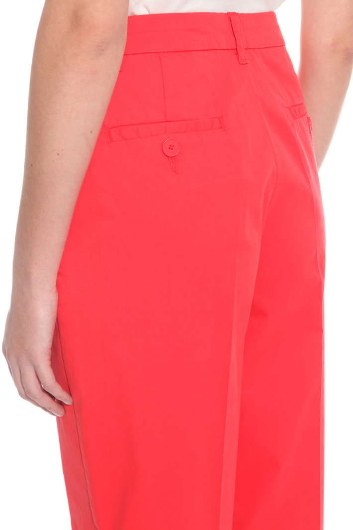 Straight-leg cotton trousers Intrend
