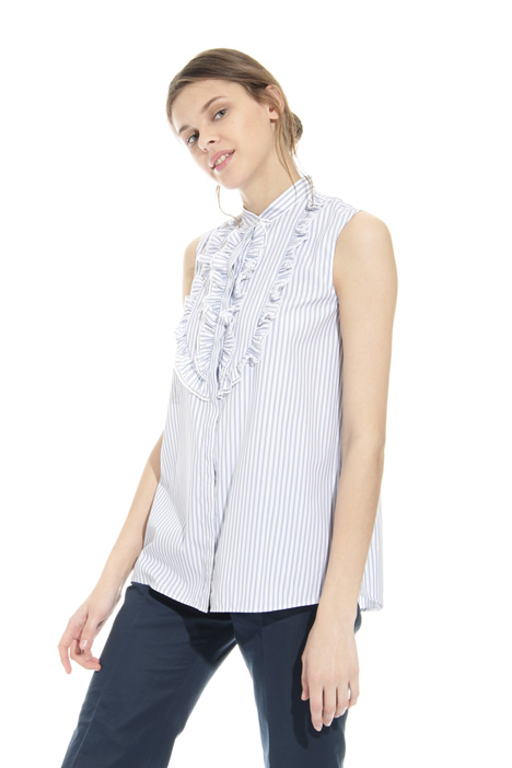 Frilled cotton shirt Intrend