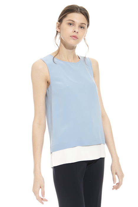 Washed silk top Intrend
