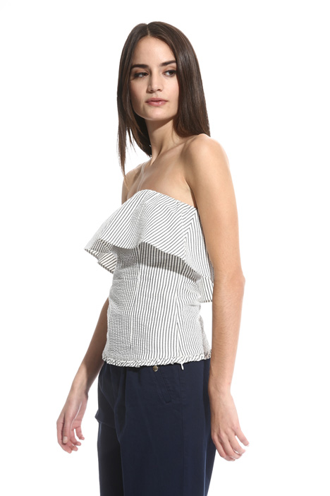 Cotton seersucker top Intrend