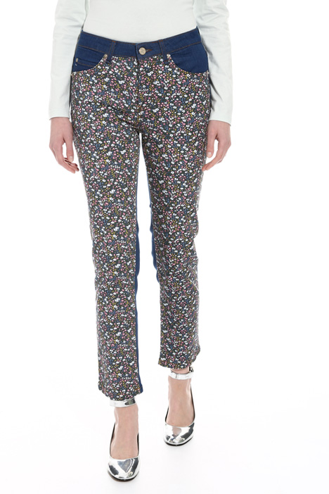 Printed drill trousers Intrend