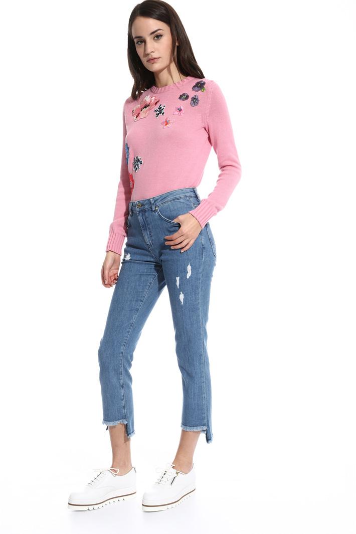 Jeans con fondo sfrangiato Intrend