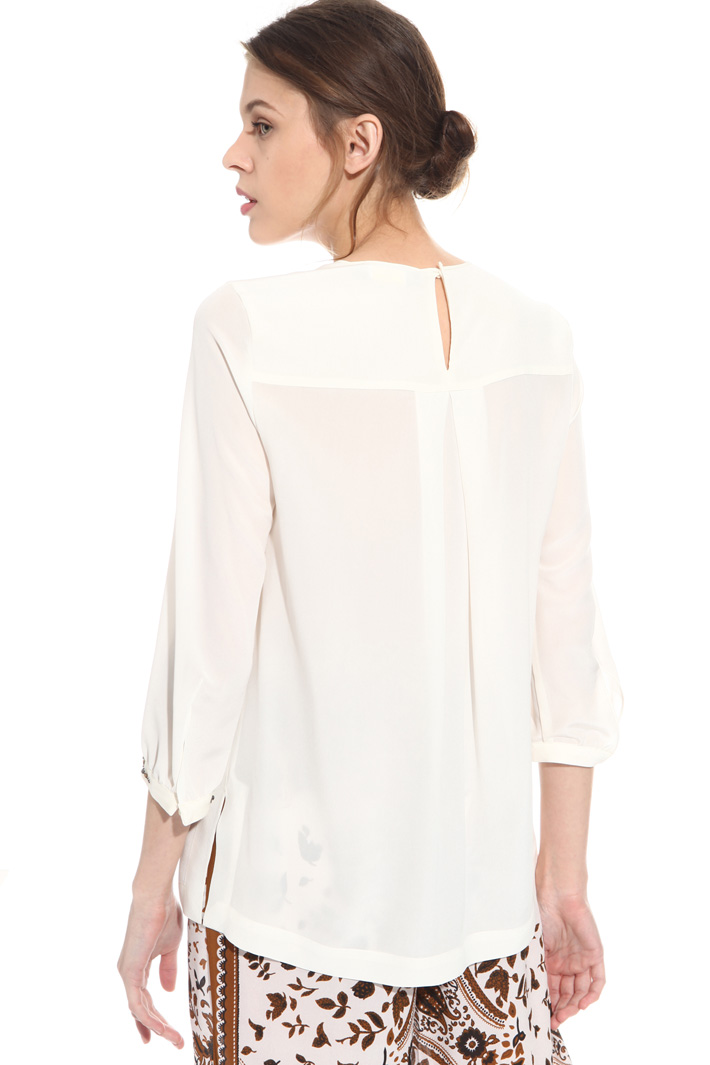 Silk blouse with embroidery  Intrend