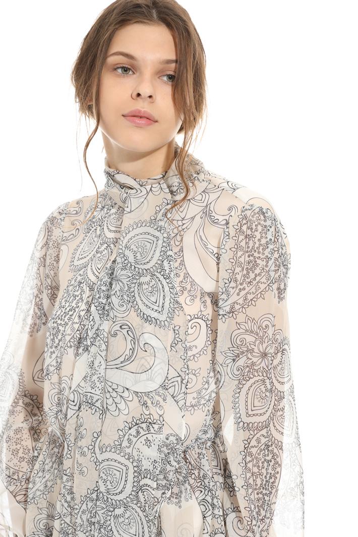 Blusa in seta stampata Intrend