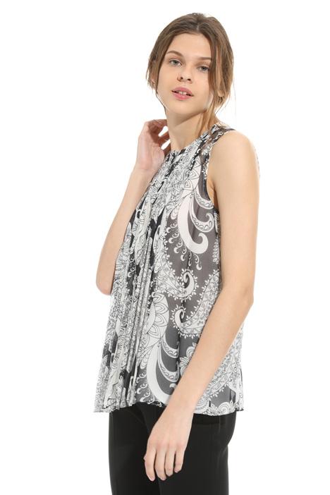 Printed silk top Intrend