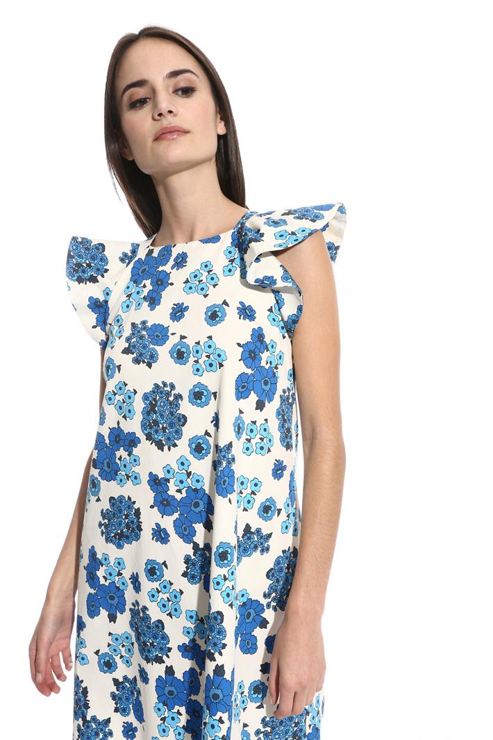 Flounced sleeve dress Intrend