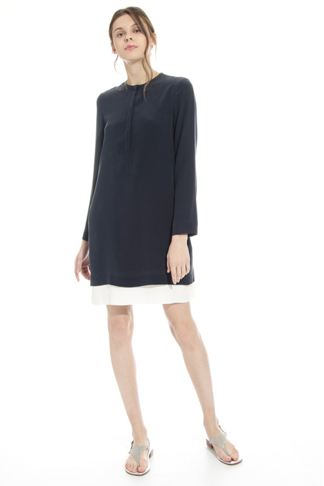 Washed silk tunic dress Intrend