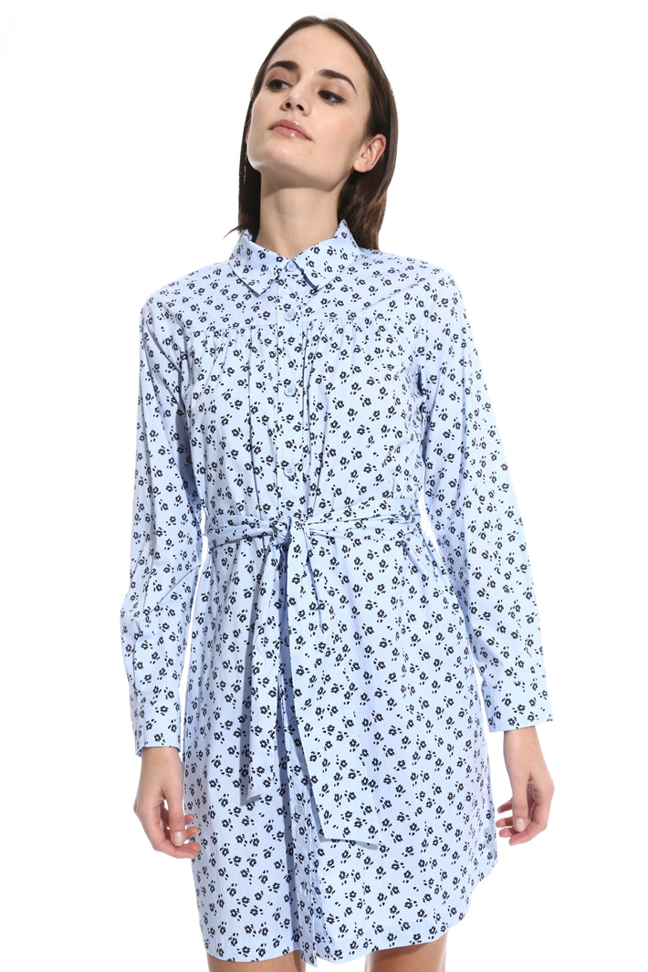 Printed poplin dress Intrend