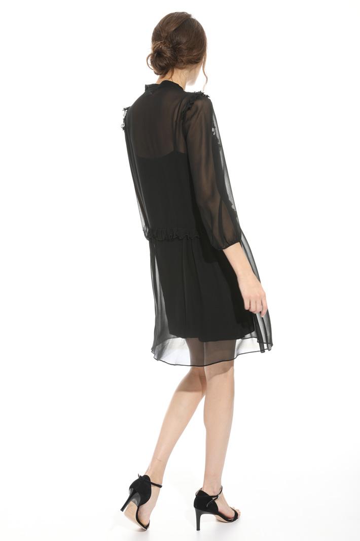 Flounced silk dress Intrend