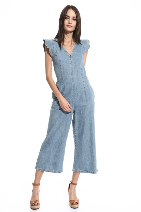 Cropped denim jumpsuit Intrend