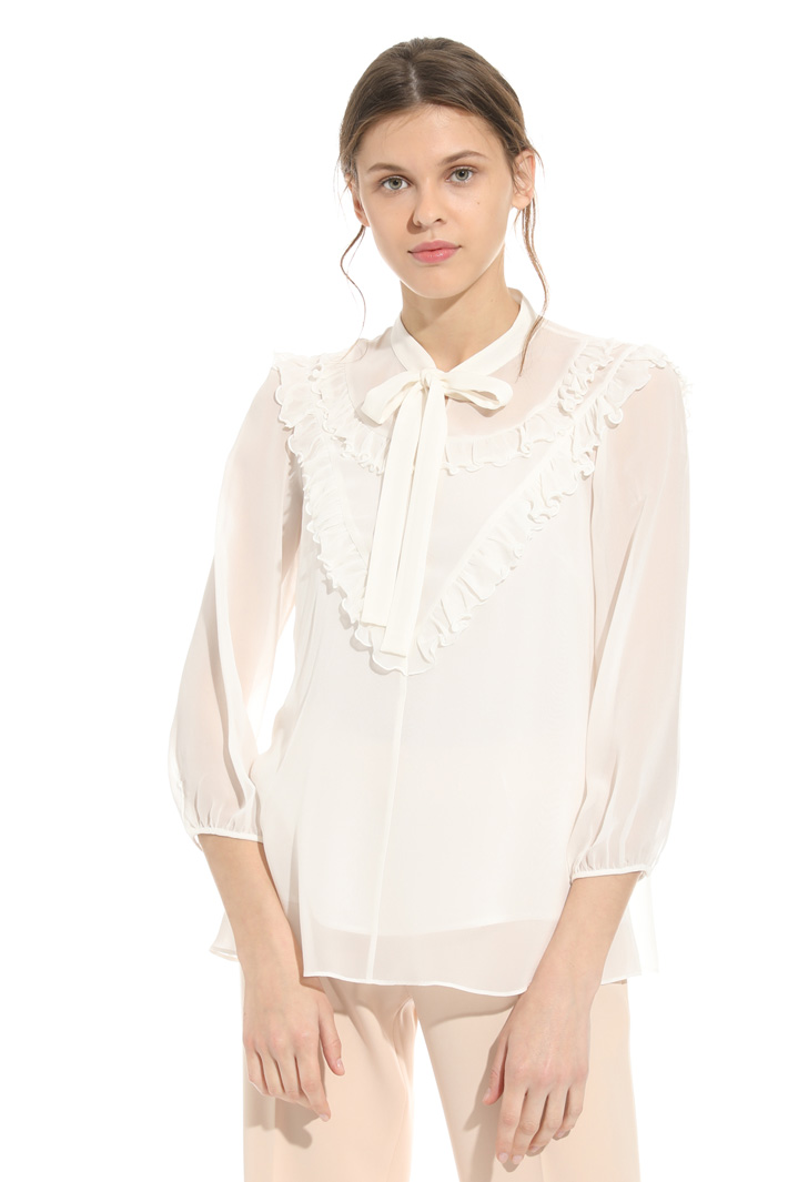 Blusa in seta con ruches Intrend