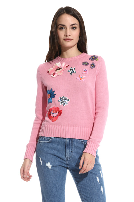 Crew neck cotton sweater Intrend