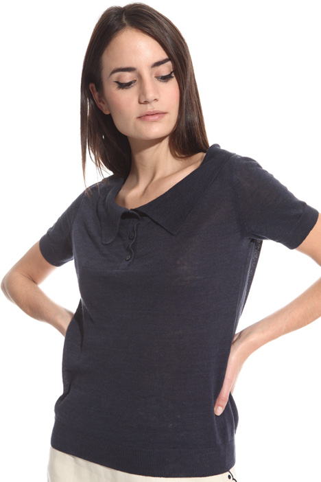 Linen polo sweater Intrend