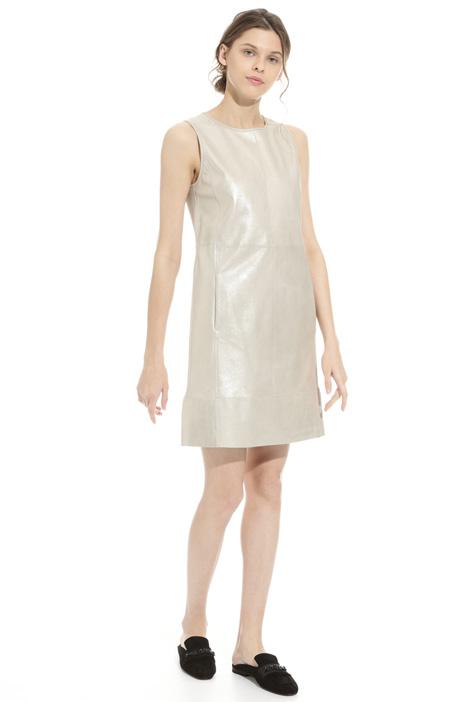 Lurex suede sheath dress Intrend