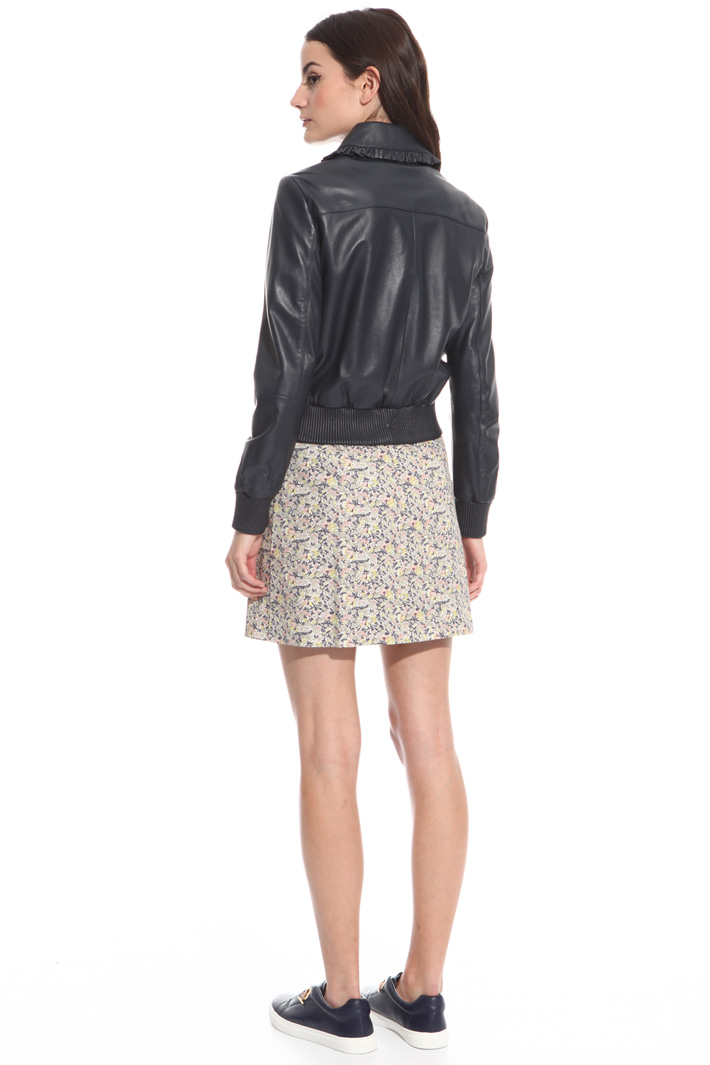 Giacca bomber in pelle Intrend