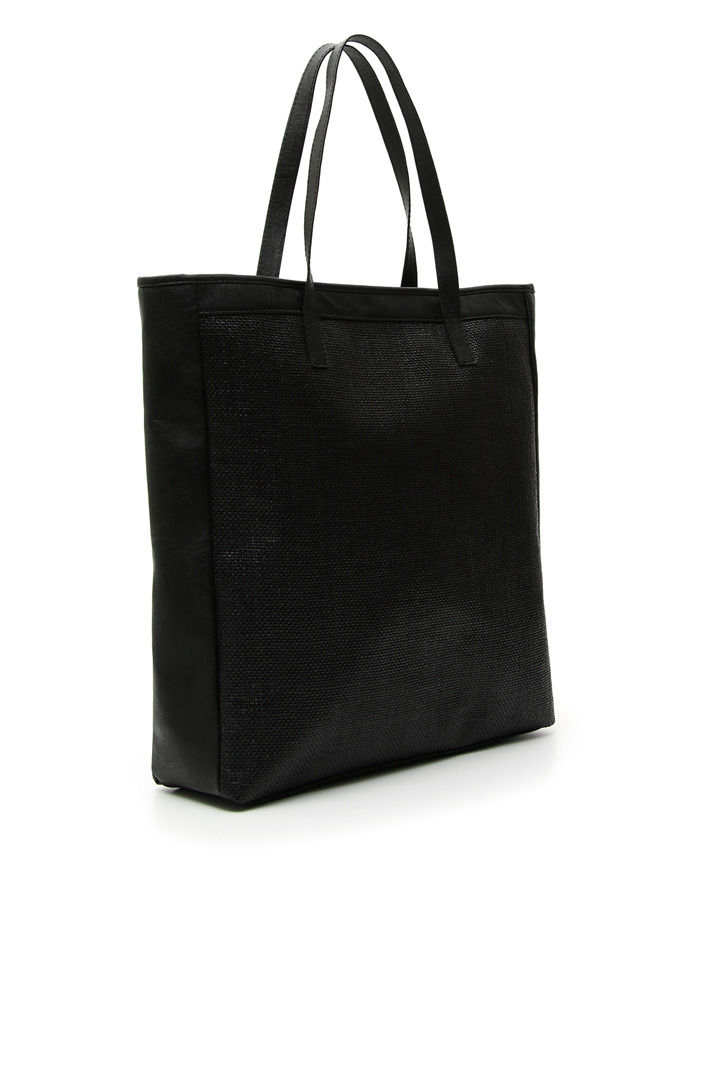 Tote bag in raffia Intrend