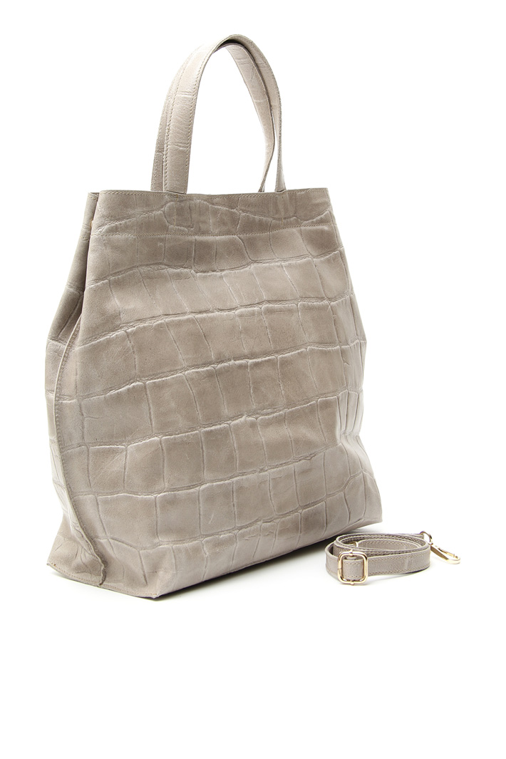 Crocodile print shopper bag Intrend