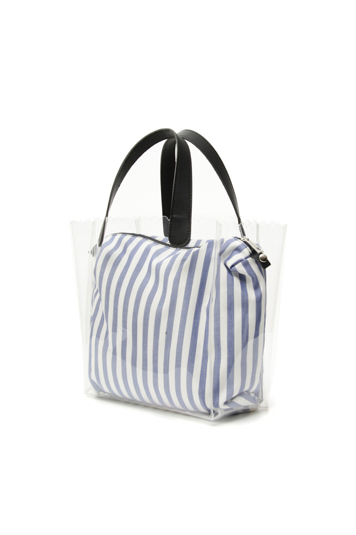Clear bag with fabric sack Intrend